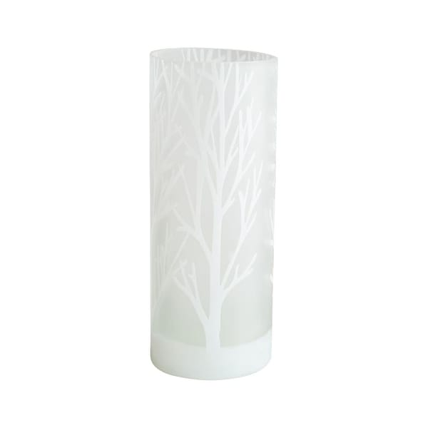 Cyan Design Large Frosted Bark Vase Frosted Bark 11.75 Inch Tall Glass Vase - White - N/A