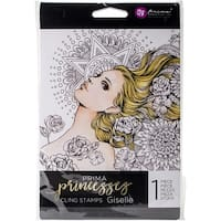 "Prima Princesses Cling Stamp 5""X7""-Giselle"