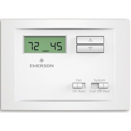 White-Rodgers NP110 Non-Programmable Single Stage Thermostat, White