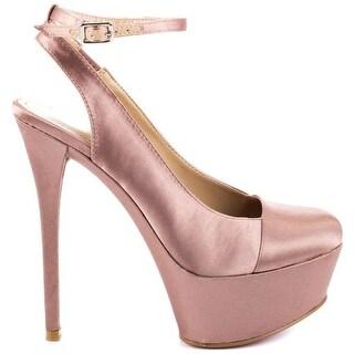 Paris Hilton Nuala Womens Textile Slingbacks Heels Shoes