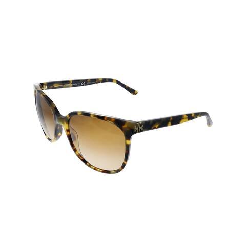 Tory Burch TY 7106 147413 57mm Womens Tortoise Frame Brown Gradient Lens Sunglasses