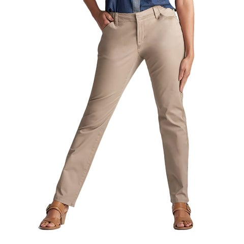 Lee Women's Tall Size Midrise Fit Essential Chino Pant