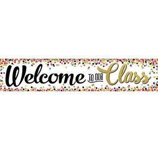 Confetti Welcome Banner
