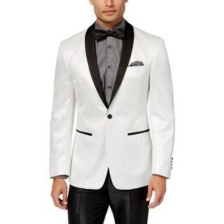 Tallia Mens Tuxedo Jacket Metallic Long Sleeves - 46R