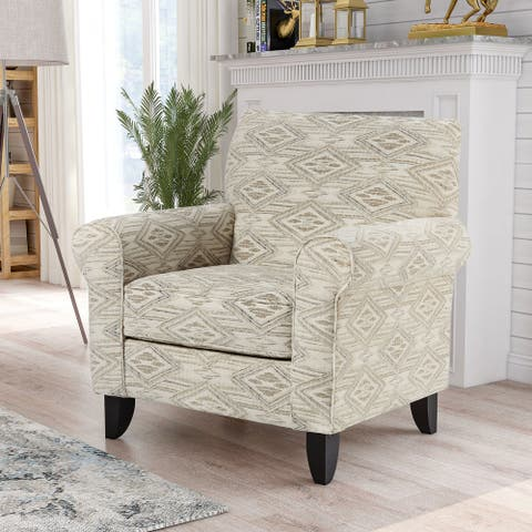 Furniture of America Hopella Transitional Diamond Pattern Armchair
