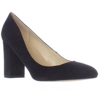 Marc Fisher Isabelle Block Heel Pumps - Black