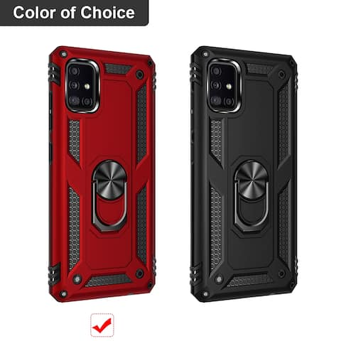 Dual Hybrid Kickstand Ring Armor Back Cover for Samsung Galaxy A71