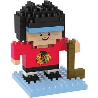 Chicago Blackhawks 3D NFL BRXLZ Bricks Puzzle Player