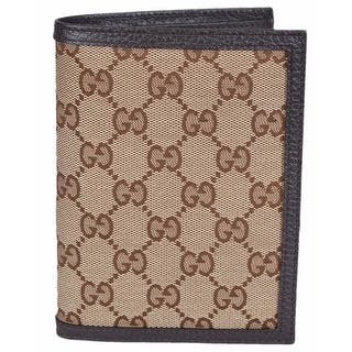 """Gucci Men's 346079 Beige Canvas GG Guccissima Passport Holder Bifold Wallet - 5.75"""" x 4.25"""" https://ak1.ostkcdn.com/images/products/is/images/direct/f8cb572a6ea893422b9739dd111d1267164588e6/Gucci-Men%27s-346079-Beige-Canvas-GG-Guccissima-Passport-Holder-Bifold-Wallet.jpg?impolicy=medium"""