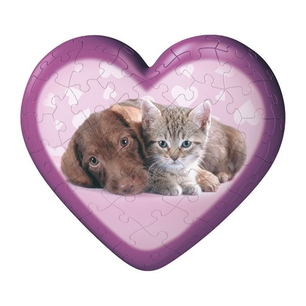 Ravensburger Puppy And Kitten Puzzleball Heart - Purple - 5.0 in. x 3.0 in. x 5.0 in.