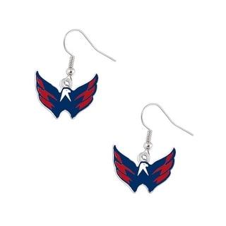 Washington Caps Capitals Dangle Logo Earring Set Charm Gift