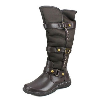 Wanderlust Gabrielle Wide Calf Round Toe Synthetic Knee High Boot