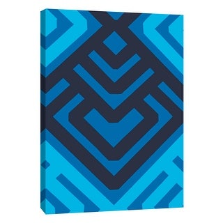 """PTM Images 9-108753  PTM Canvas Collection 10"""" x 8"""" - """"Monochrome Patterns 6 in Blue"""" Giclee Abstract Art Print on Canvas"""