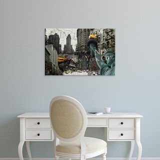 Easy Art Prints GraphINC's 'New York' Premium Canvas Art