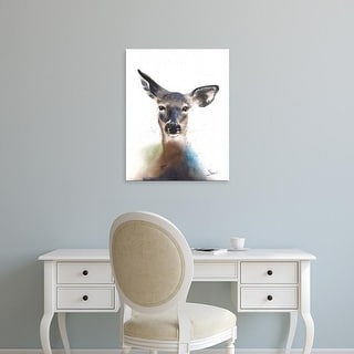 Easy Art Prints Eric Sweet's 'Deer Watercolor' Premium Canvas Art
