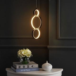Link to Strick & Bolton Boudleaux Black Adjustable LED Metal Ring Pendant Similar Items in Pendant Lights