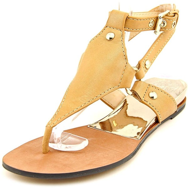 Vince Camuto Adalina Women Open Toe Leather Brown Thong Sandal