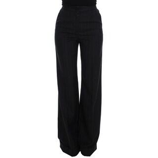 Dolce & Gabbana Dolce & Gabbana Gray Striped Wool High Waist Pants - it40-s