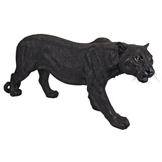 Design Toscano Shadowed Predator Black Panther Statue: Large