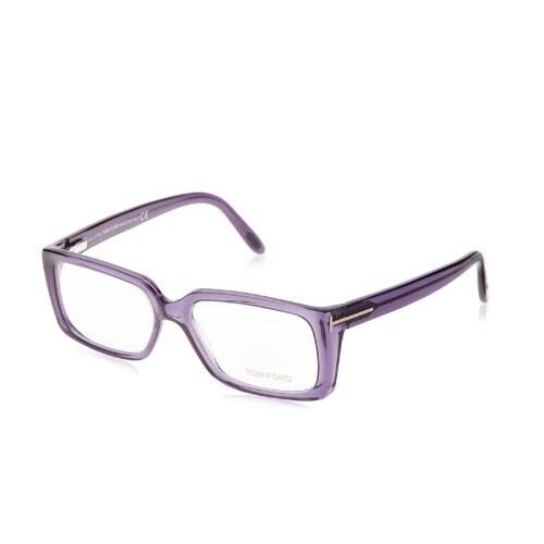 Shop Tom Ford Womens Eyeglasses FT5281-081 Violet Rectangle Full Rim ...