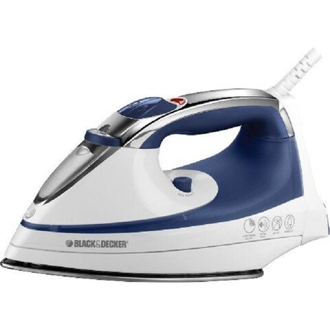 Black & Decker IR1070S-3 Steam Advantage Iron, 1200 W, White with Blue