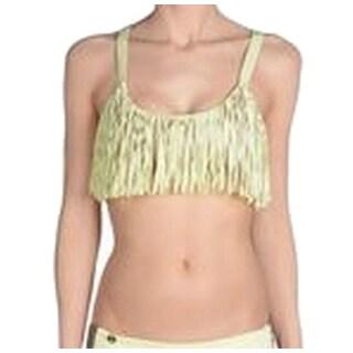 Maaji NEW Yellow Women's Size Large L Fringe Bikini Top Swimwear
