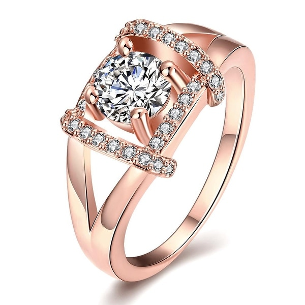 Jewel Lined Rose Gold Ring