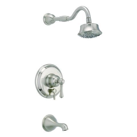 Opulence 1H Tub & Shower Trim Kit & Treysta Cartridge w/ Diverter on Valve & 5 Function Showerhead 1.75gpm Brushed Nickel