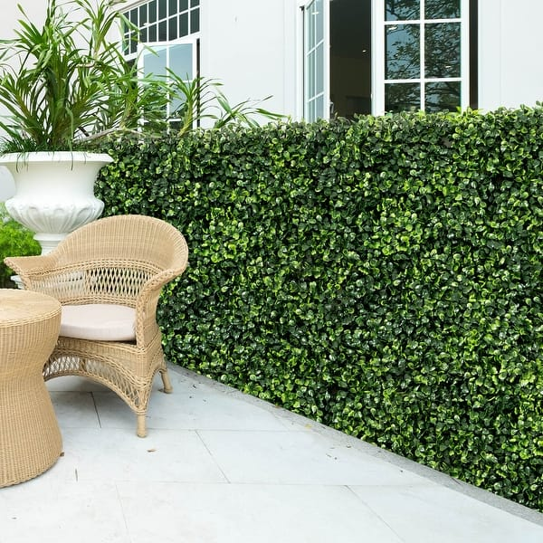 Costway 12 Pcs 20 X20 Artificial Boxwood Plant Wall Panel Hedge On Sale Overstock 30618895