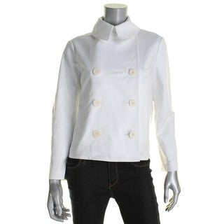 Lauren Ralph Lauren Womens Jacket Double-Breasted Collared