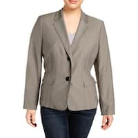 Le Suit Womens Two-Button Blazer Textured Office - 18