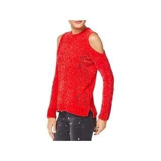 XOXO Womens Juniors Sweater Chenille Pointelle - M