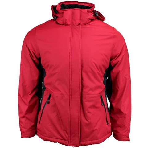 River's End Classic Color Block Parka Womens Jacket - Red