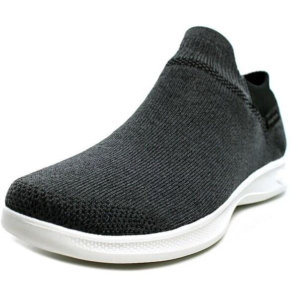 Skechers Go Step Lite - Ultrasock Women Round Toe Canvas Black Walking Shoe