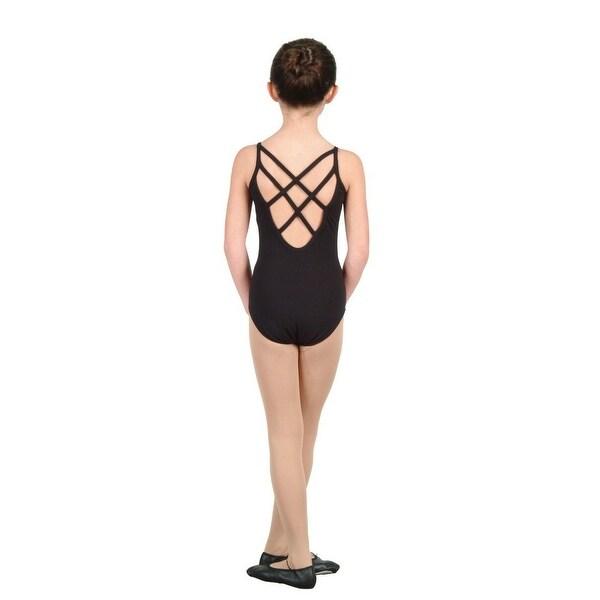8657d0a23ecb Shop Danshuz Black Camisole Low Back Cross Straps Ballerina Dance ...