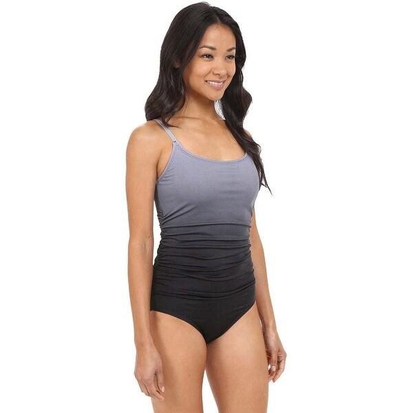 4fd2dea9cc36f Speedo Women's Fit Thin Strap One Piece Swimsuit 10 Black, Swimwear