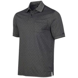 Greg Norman NEW Black Men's Size Small S Diamond-Print Polo Shirt