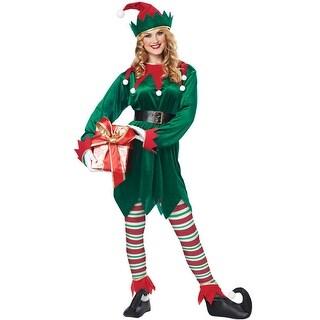 California Costumes Christmas Elf Adult Costume - Green