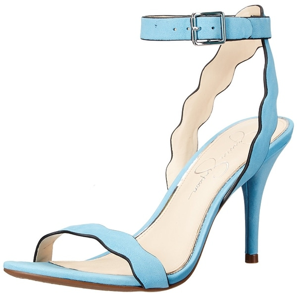 Jessica Simpson Womens Morena Open Toe Ankle Strap Classic Pumps
