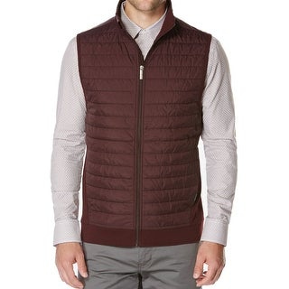 Perry Ellis NEW Purple Mens Size 3XL Full-Zip Mock-Neck Vest Jacket