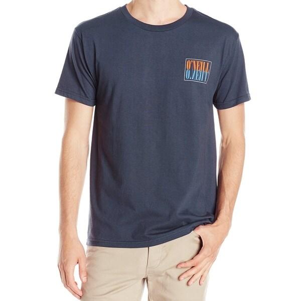 O  x27 Neill NEW Navy Blue Mens Size Medium M Graphic-Print Crewneck. Click  to Zoom 62ee2b85e6156