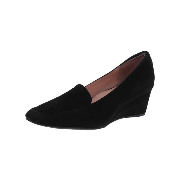 Shop Taryn Rose Womens Reyes Wedge Heels Square Toe Loafer