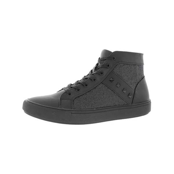 ae8290dc363 Shop Steve Madden Mens Archie Fashion Sneakers Studded High Top ...