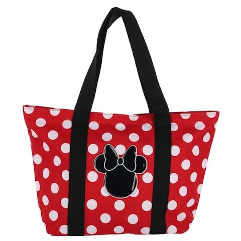 Disney Women's Minnie Mouse Polka Dot Canvas Tote Bag - one size