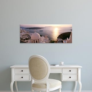 Easy Art Prints Panoramic Images's 'View of buildings in a city, Santorini, Cyclades Islands, Greece' Canvas Art