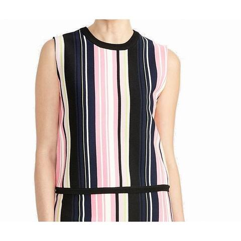 Rachel Rachel Roy Womens Sweater Top Pink Size Medium M Multi-Stripe