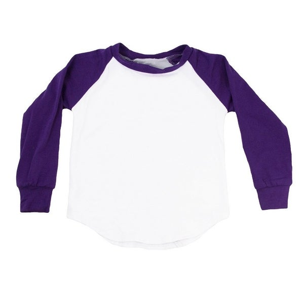 Unisex Baby Purple Two Tone Long Sleeve Raglan Baseball T-Shirt 6-12M