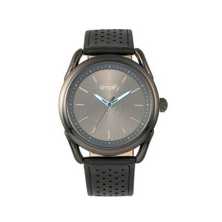 Simplify The 5900 Unisex Quartz Watch, Genuine Leather Band, Luminous Hands