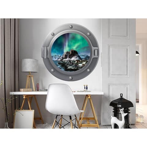 3D Northern Lights Wall Decal Mural