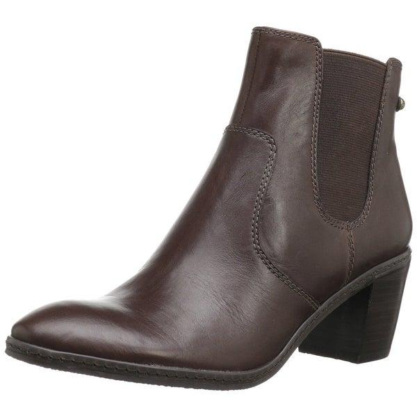 AK Anne Klein Women's Bunty Leather Chelsea Ankle Booties